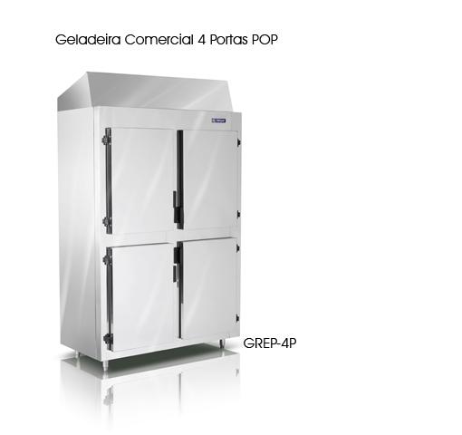 GELADEIRA COM.4 PORT.GREP-4P/EVAP GELOPAR